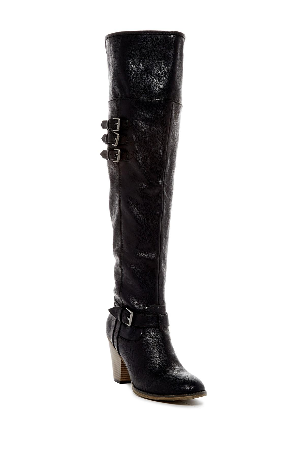 MIB Frauen Farley Pumps rund Leder Fashion Stiefel Schwarz Groesse 6 US /37 EU