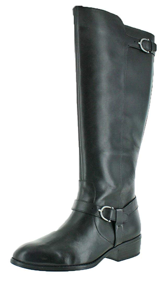 0a592f317019 LAUREN by Ralph Lauren Margarite Womens Boots Black Burnished Calf 6 ...