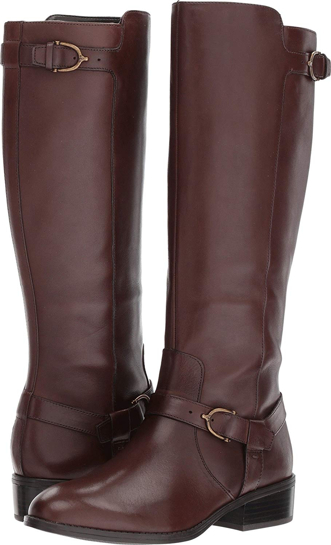 LAUREN by Ralph Lauren mujer Margarite Almond Toe Mid-Calf, marrón, Talla 7.5 6Bg