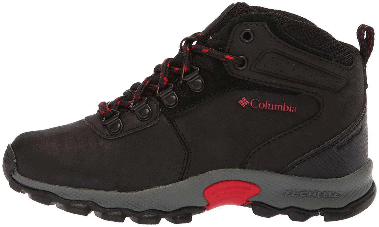 73ca98c381b05 Details about Columbia Kids' Childrens Newton Ridge Hiking Boot, Black,  Size 4.0 hSlE