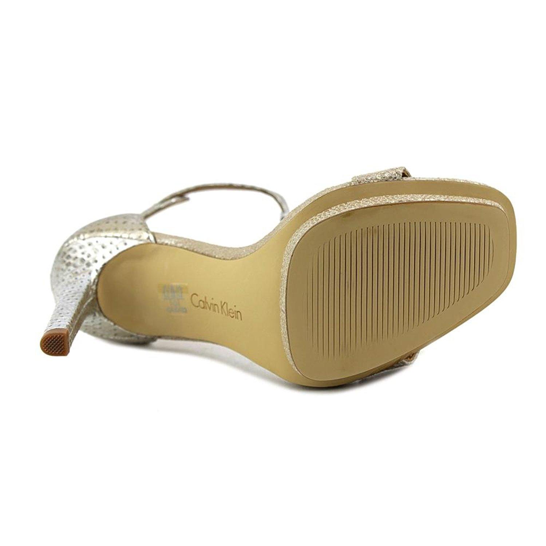 60c425dee62 Calvin Klein Womens Vable Open Toe Ankle Strap Classic Pumps