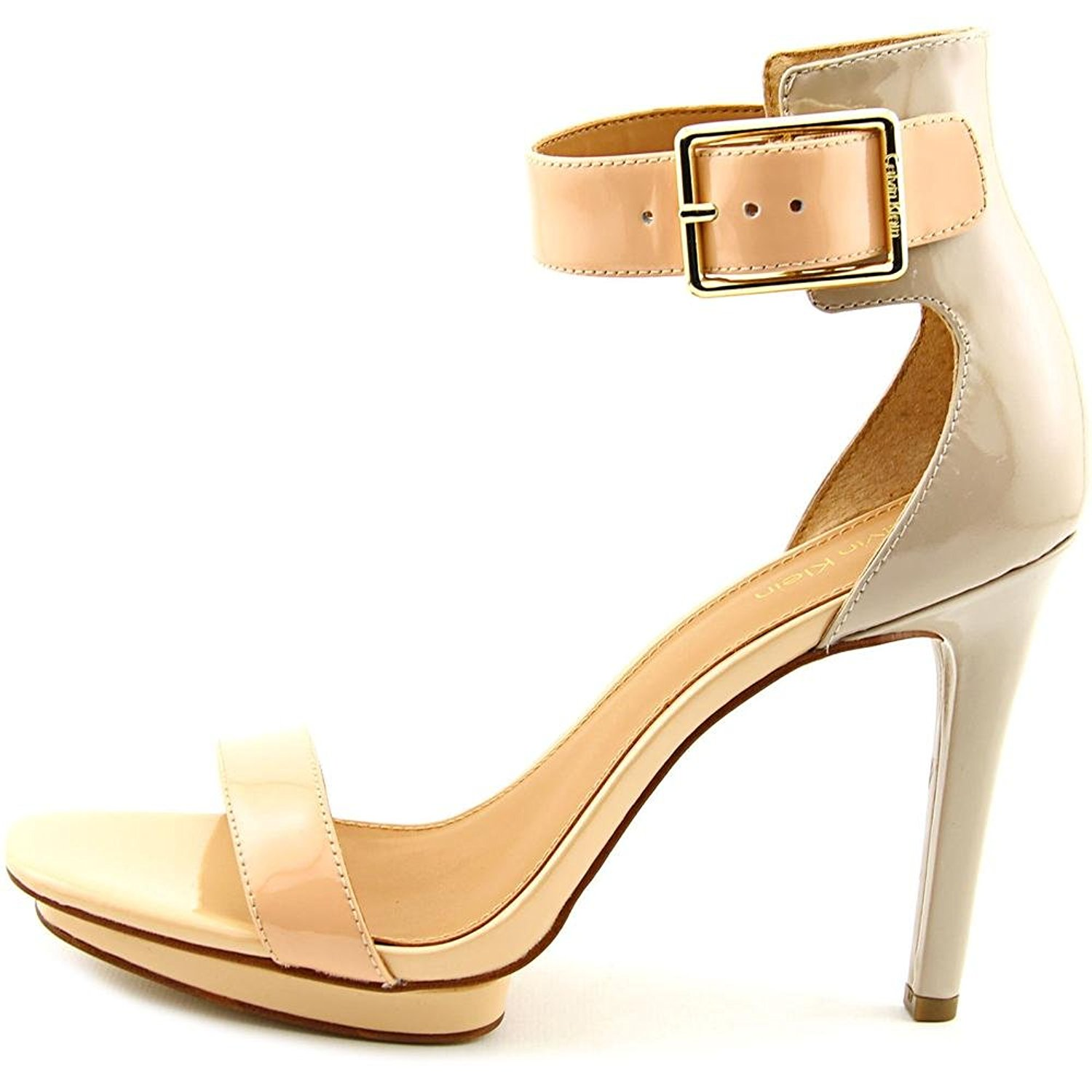 Calvin Klein Womens Vable Open Toe Ankle Strap Blush Nude/Cocoon Size 8.5 odqn