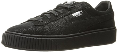 PUMA Women's Basket Platform Reset Fashion Sneaker Black Size 6.0