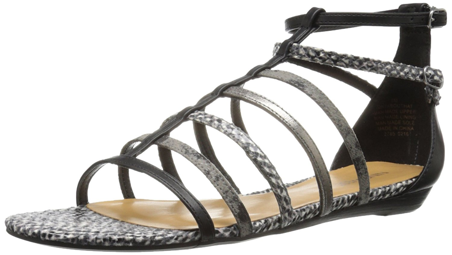 Nine West Womens abouthat Open Toe Casual Strappy Sandals BlackMulti Size 80