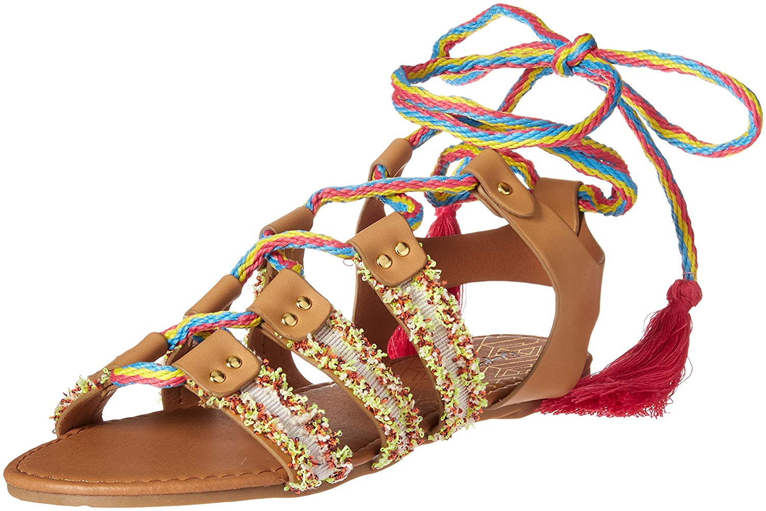 536c05a15 Qupid Womens Archer Open Toe Casual Gladiator Sandals