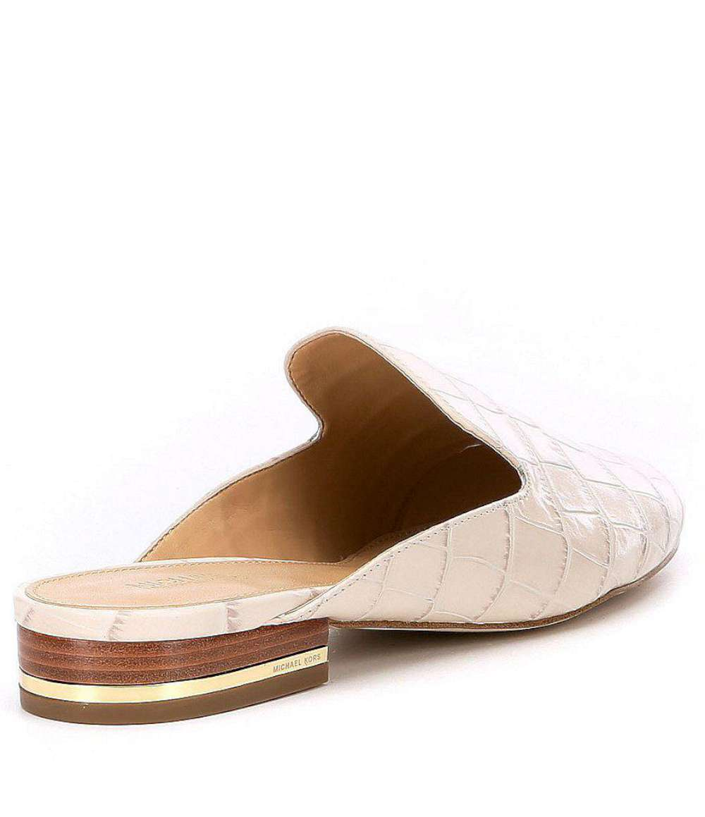 4c06e60e605a Michael Michael Kors Womens Natasha Leather Almond Toe Casual Slide ...