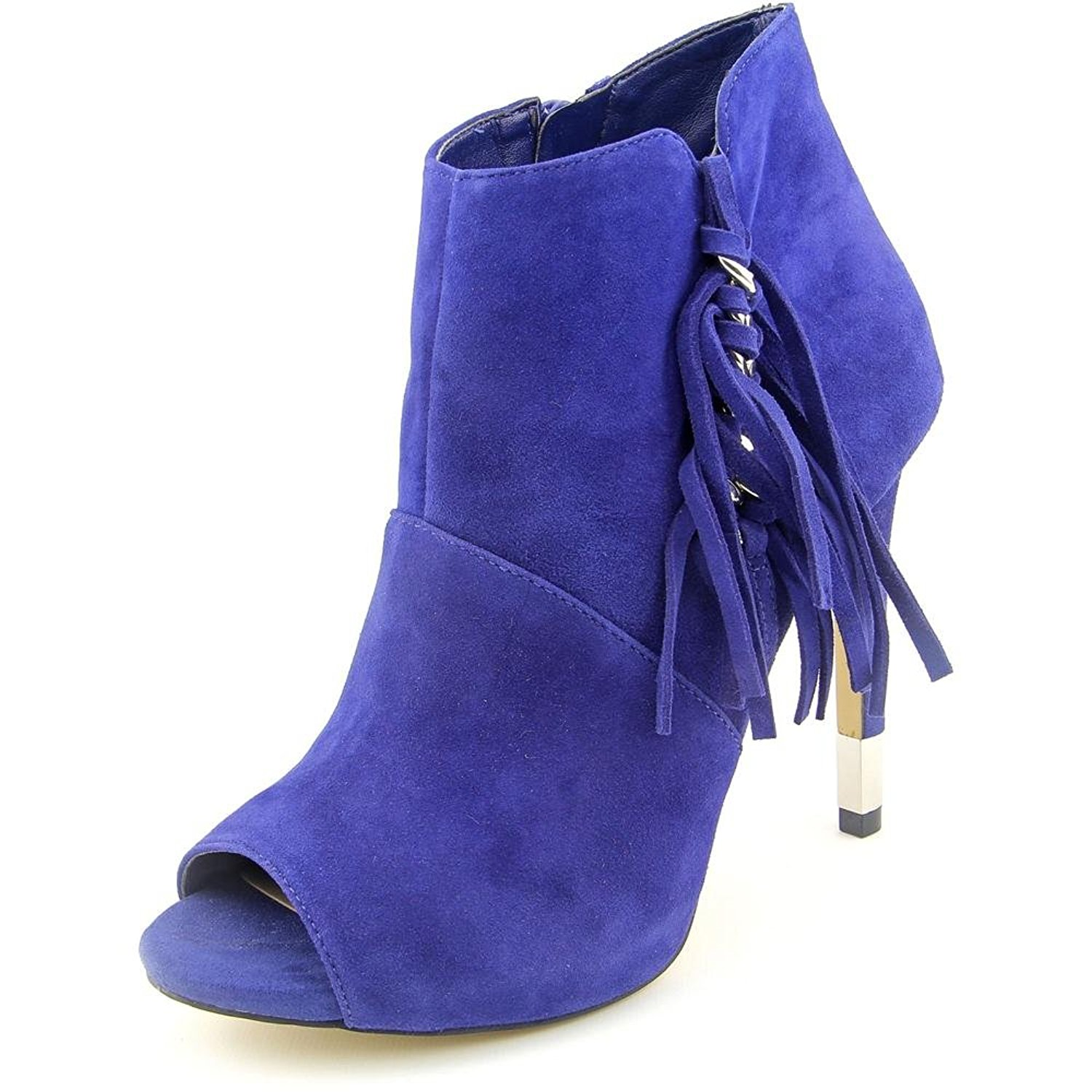 GUESS Womens AZIZ Peep Toe Ankle Fashion Boots Blue Size 6.0