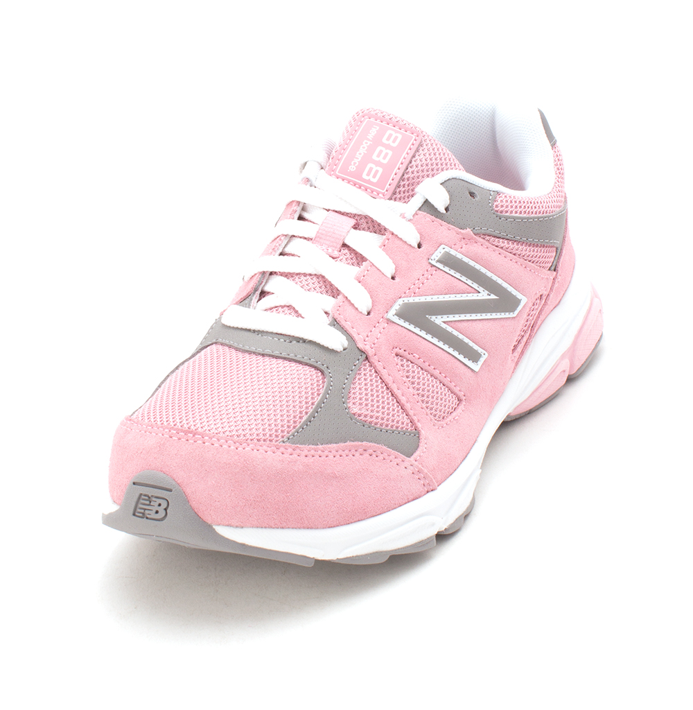 74bfa66e795e Big Kids New Balance Girls KJ888sgg Suede Low Top Lace Up Fashion Sneaker