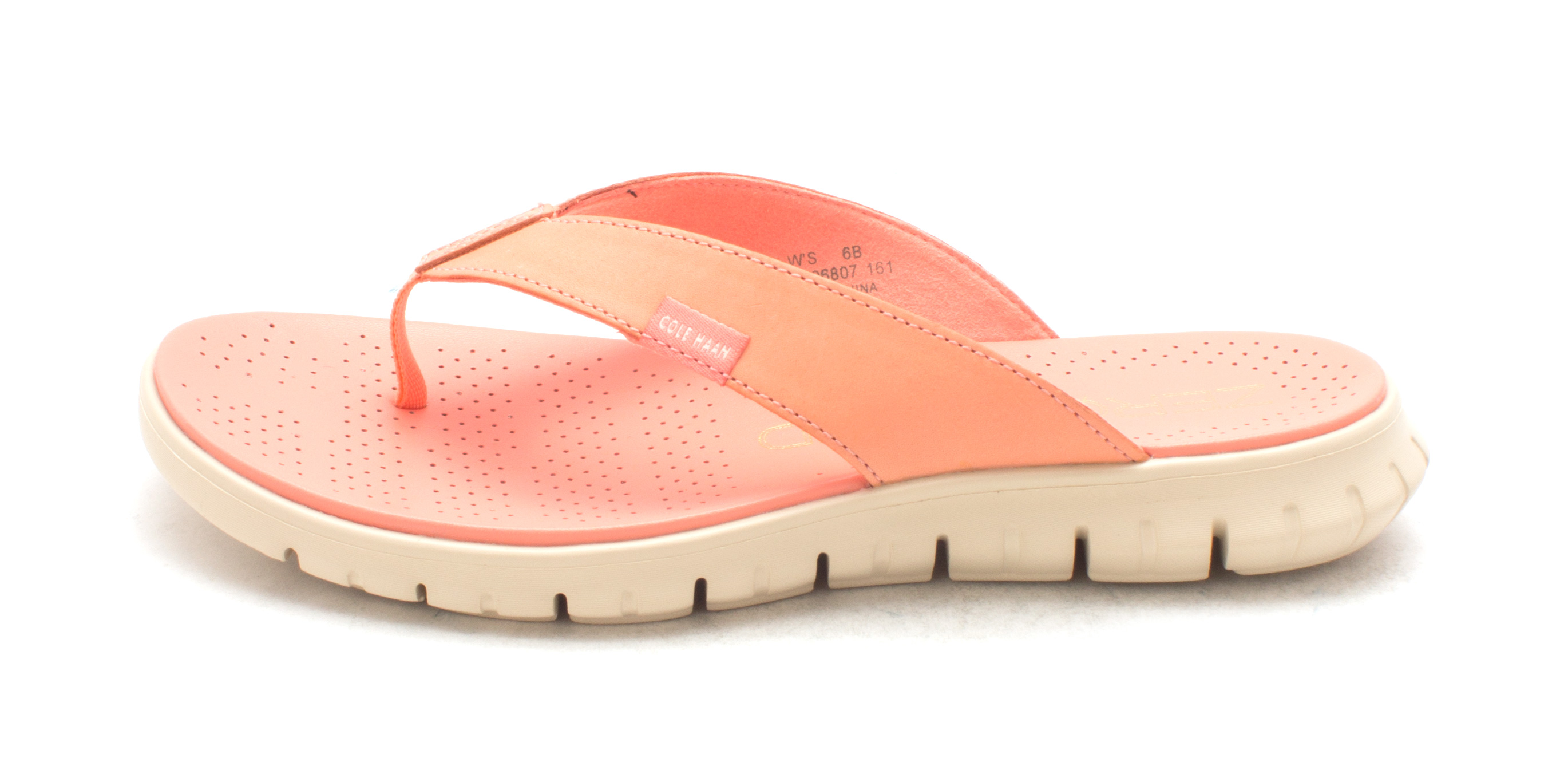 Cole Haan Womens Olympiesam Open Toe Casual Orange Size 60