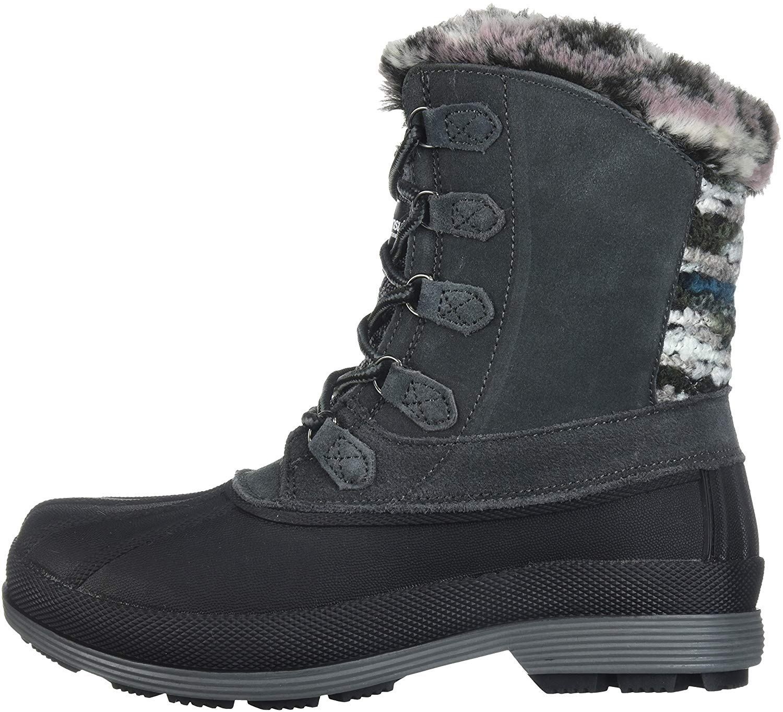 Propét Damenschuhe WBX002S Leder Round Toe Ankle Cold Weather Stiefel
