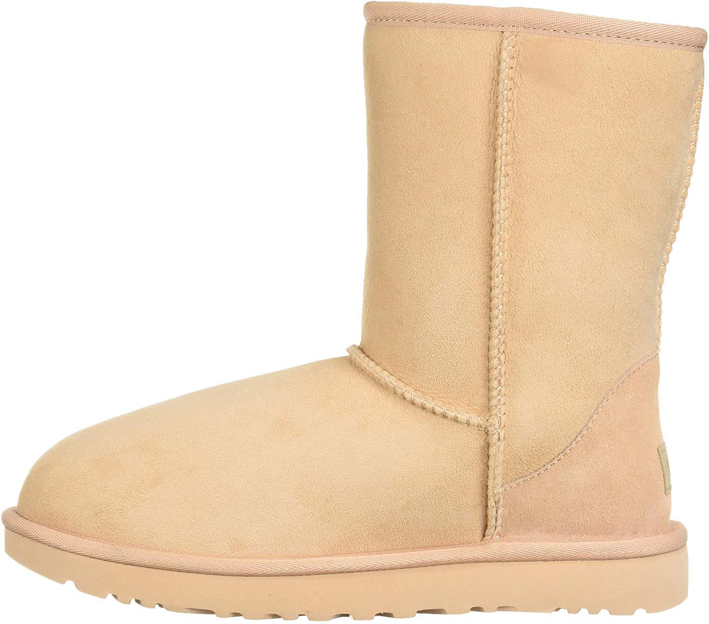 Womens warm winter Boots Mid Calf Australian Classic faux Sheepskin Shearling nb