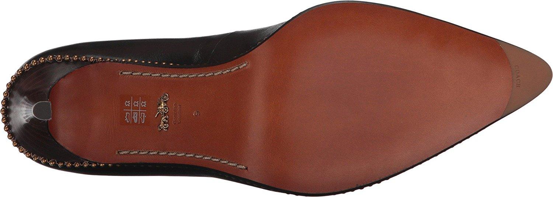 8de7c25bcc8d Coach Womens Beadchain pump Leather Pointed Toe Classic