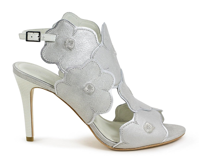 Donald J Pliner Womens Alena Open Toe Casual Slingback SilverBone Size 90