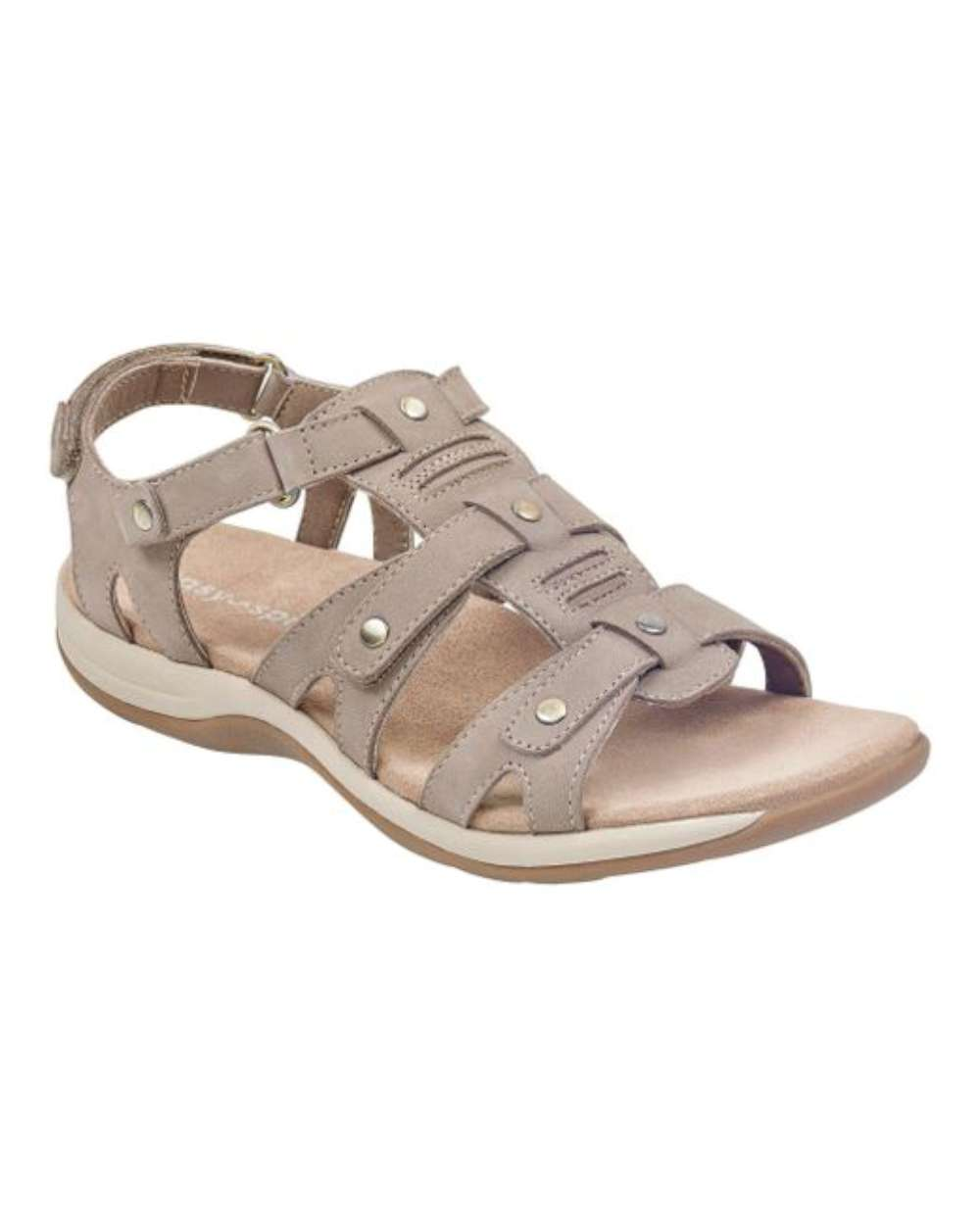 Easy Spirit mujer Sailors Leather Open Toe Casual Sport, Taupe, Talla 6.5