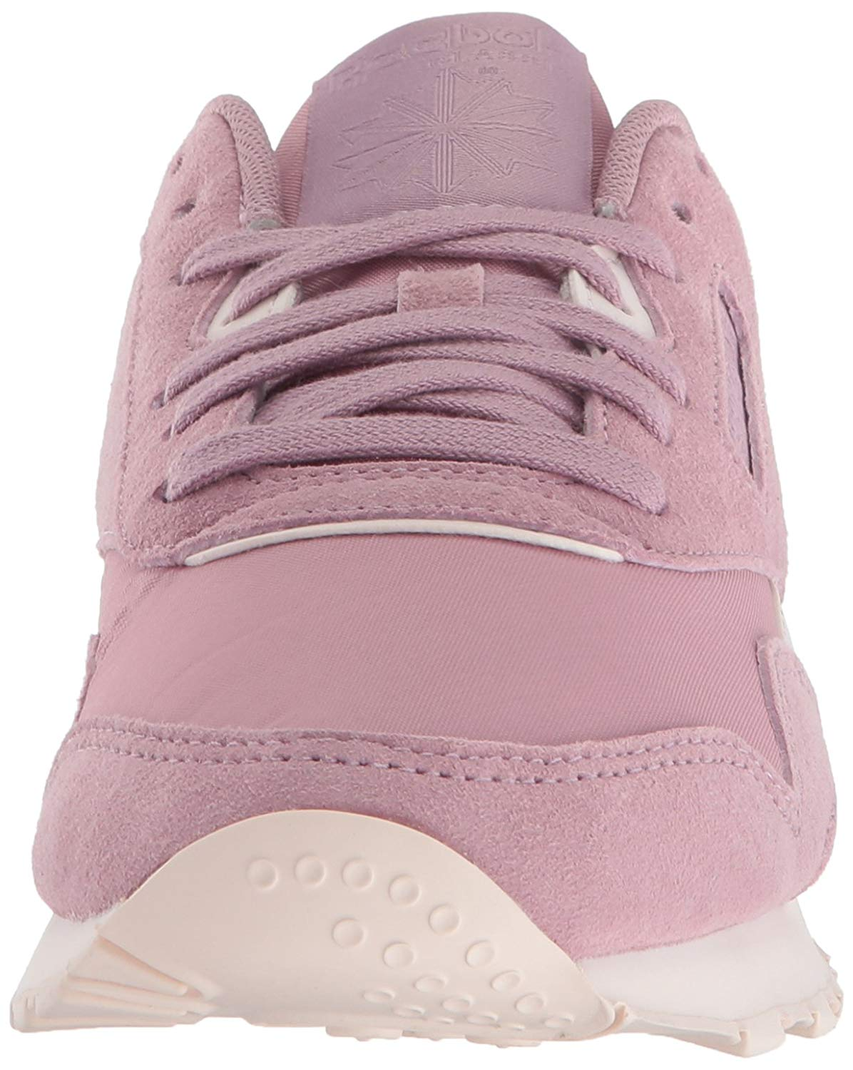 Reebok Womens Classic Nylon Leather Low Top Lace Up Fashion Sneakers ... 97115e399