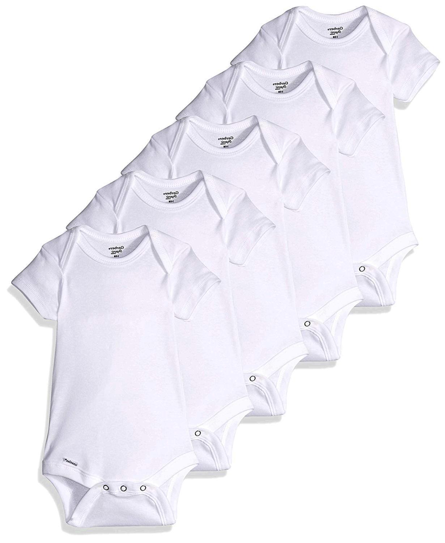 Gerber Baby 5-Pack or 15 Multi Size Organic Short Sleeve ...
