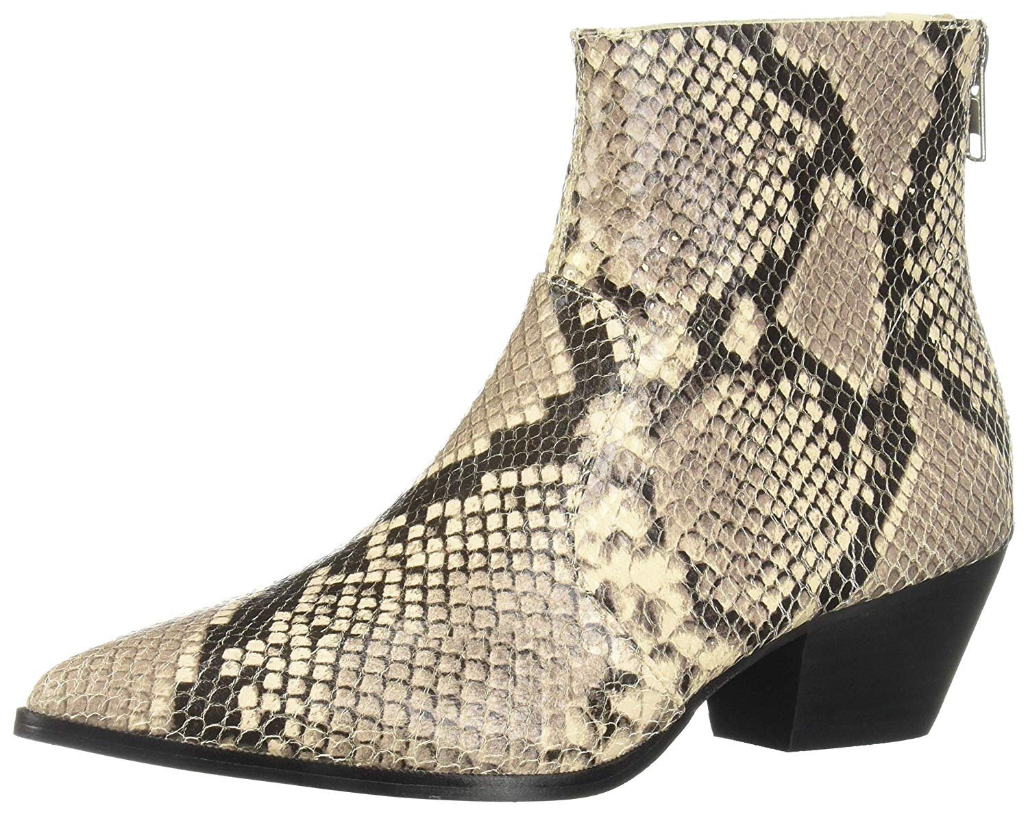 97b71f71d94 Details about Steve Madden Women's Café Western Boot, Natural Snake, Size  7.0 c7AD