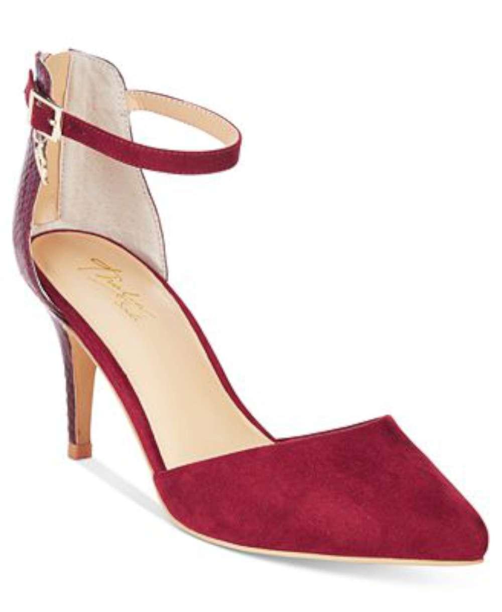 Thalia Sodi Womens Vanesssa Pointed Toe Ankle Strap Elderberry/Snake Size 9.5