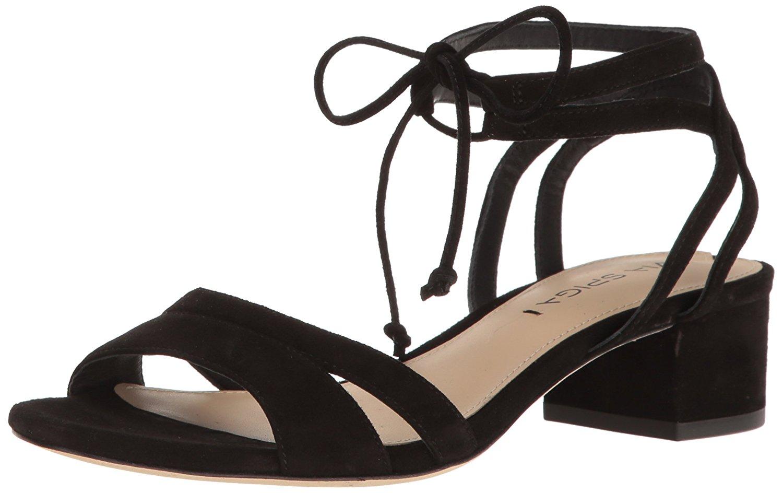 a16a12cbc1 Via Spiga V-Taryn Womens Heeled Sandals Black Suede 6 US / 4 UK ...