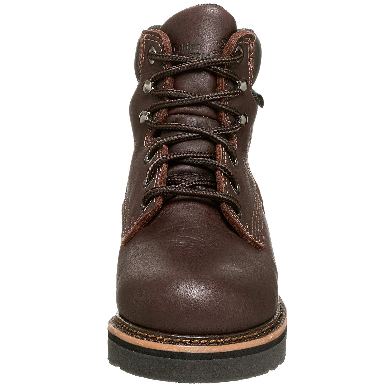 golden Retriever Mens 2901 6 Work Boot Leather Aluminum Toe, Brown, Size 8.0 27Z
