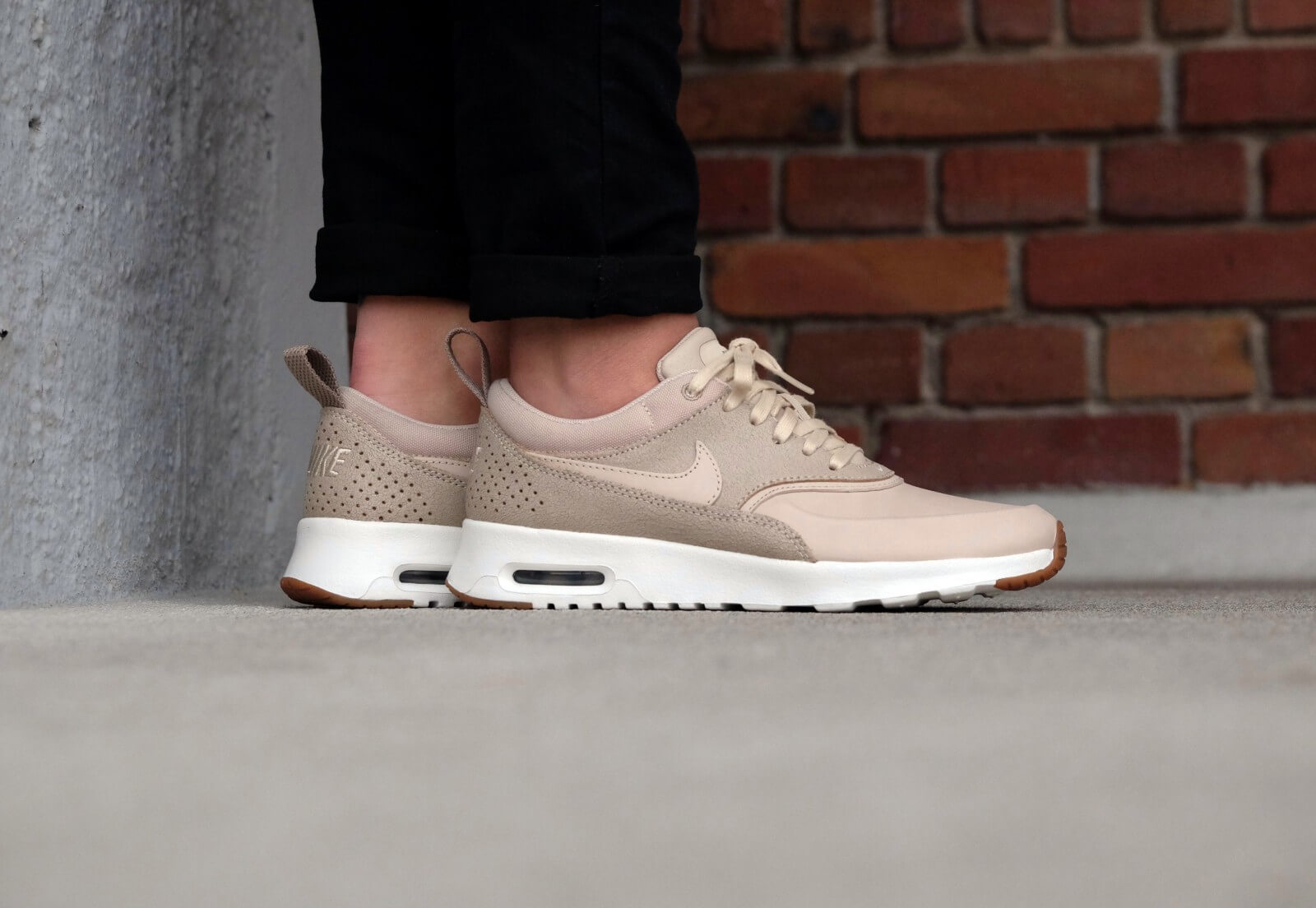 Details about Nike Womens Air Max Thea Prm Low Top Lace Up Running Sneaker, Beige, Size 6.0 8C