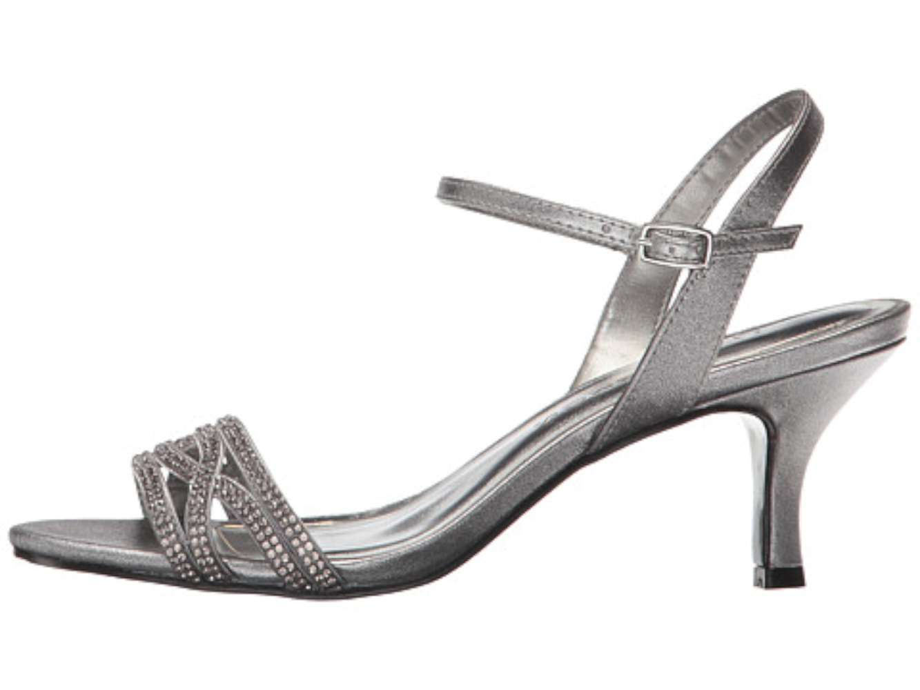 Caparros Womens Jeanine Open Toe Special Occasion Pewter Metallic Size 65