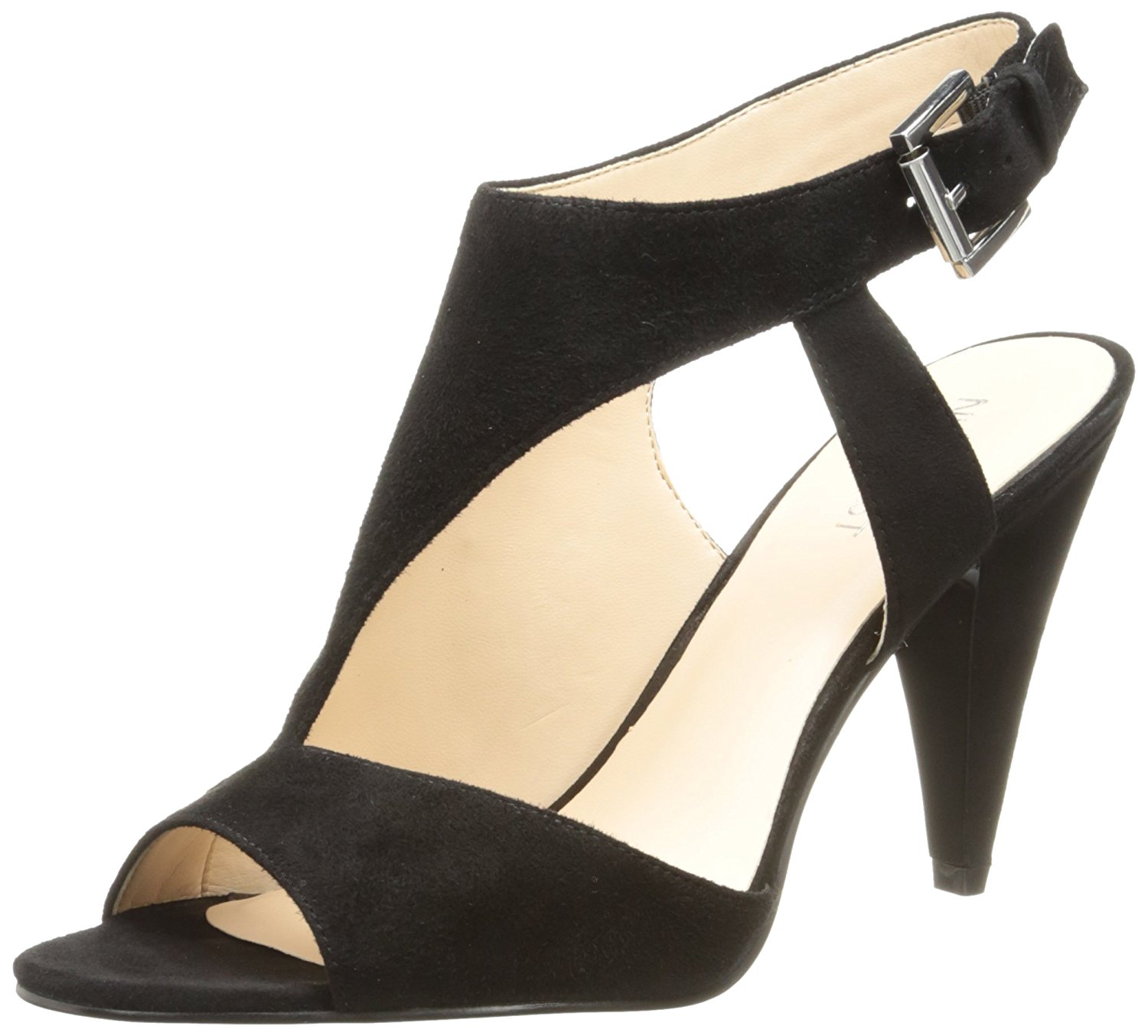 Nine West Womens Vidah Open Toe Special Occasion Ankle Strap Black Size 100 O