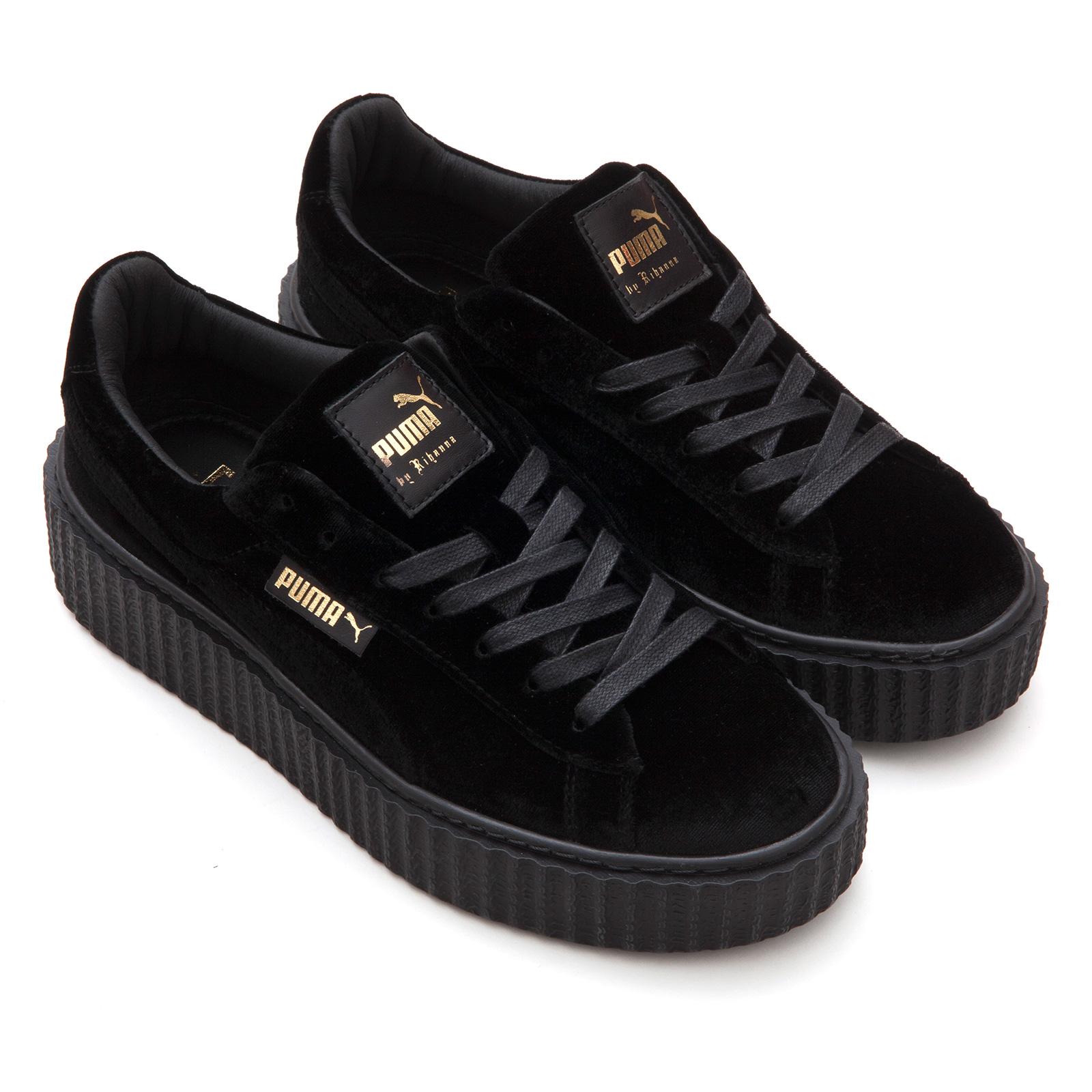 Puma Creeper Velvet Womens Fashion Sneakers Puma Black 8 US   6 UK ... 8c676e3236