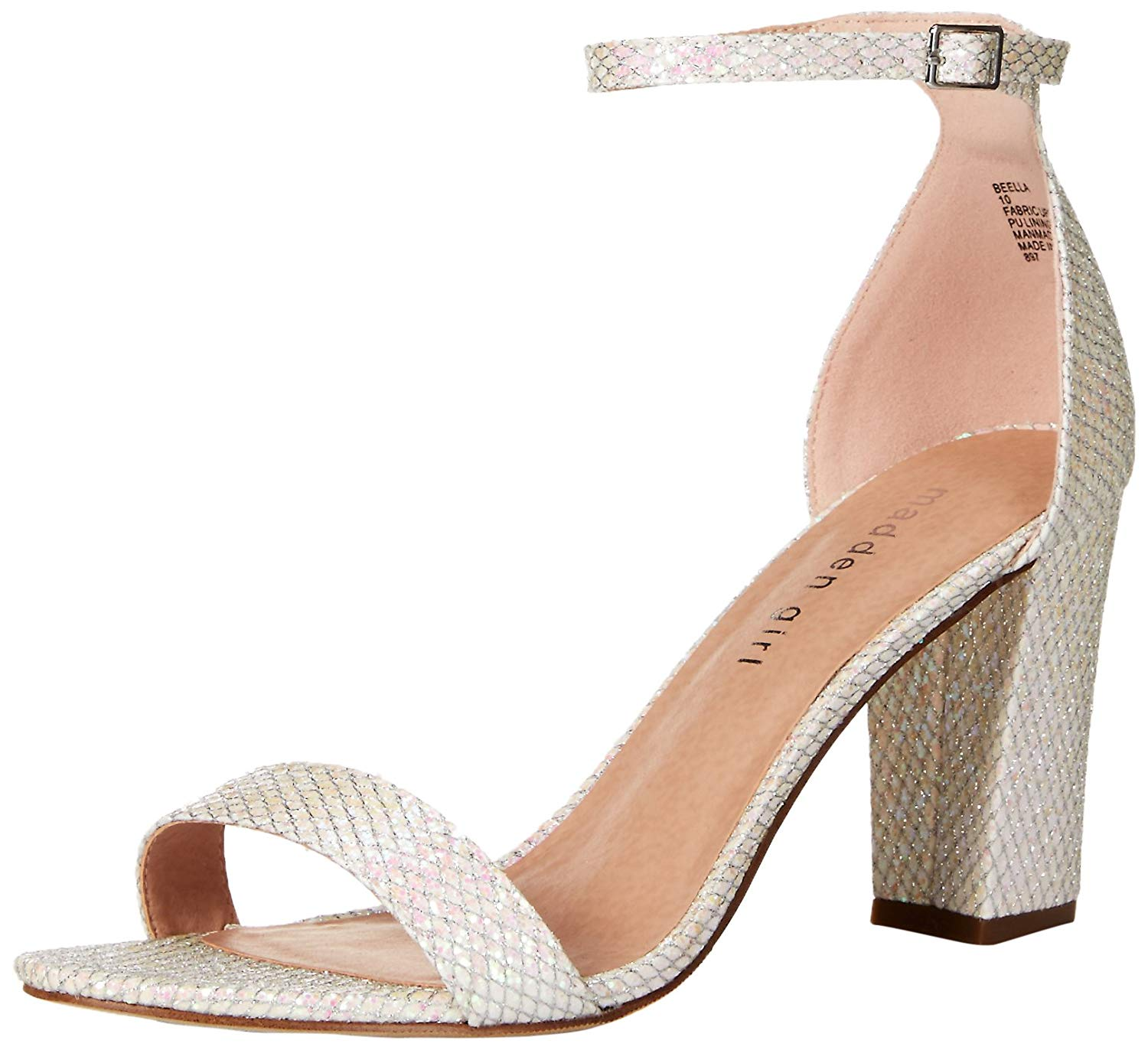 bebeb6f3990 Madden Girl Womens Beella Fabric Open Toe Casual Ankle Strap Sandals ...