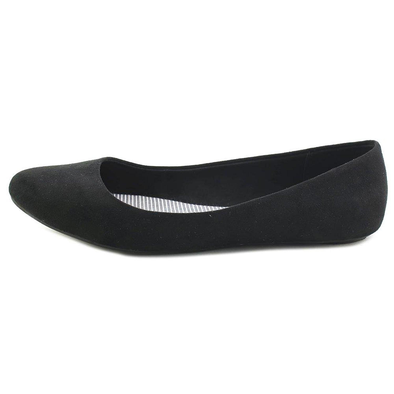 Kelly & Katie Womens pirassa Fabric Pointed Toe Ballet Flats Black Size 8.5 sE