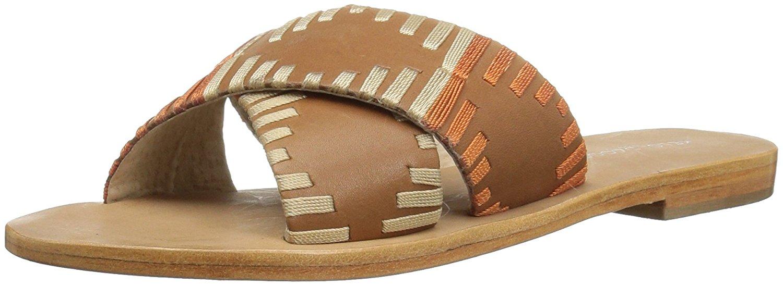 Kelsi Dagger Womens Crown Open Toe Casual Slide Sandals Cinnamon Size 75