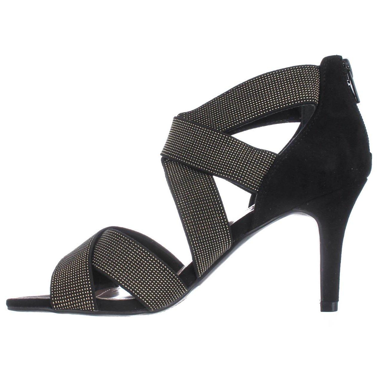Style Co. Donna Seleste Open Toe Ankle Strap Classic Classic Classic Nero/Gold Size 10.0 930f44