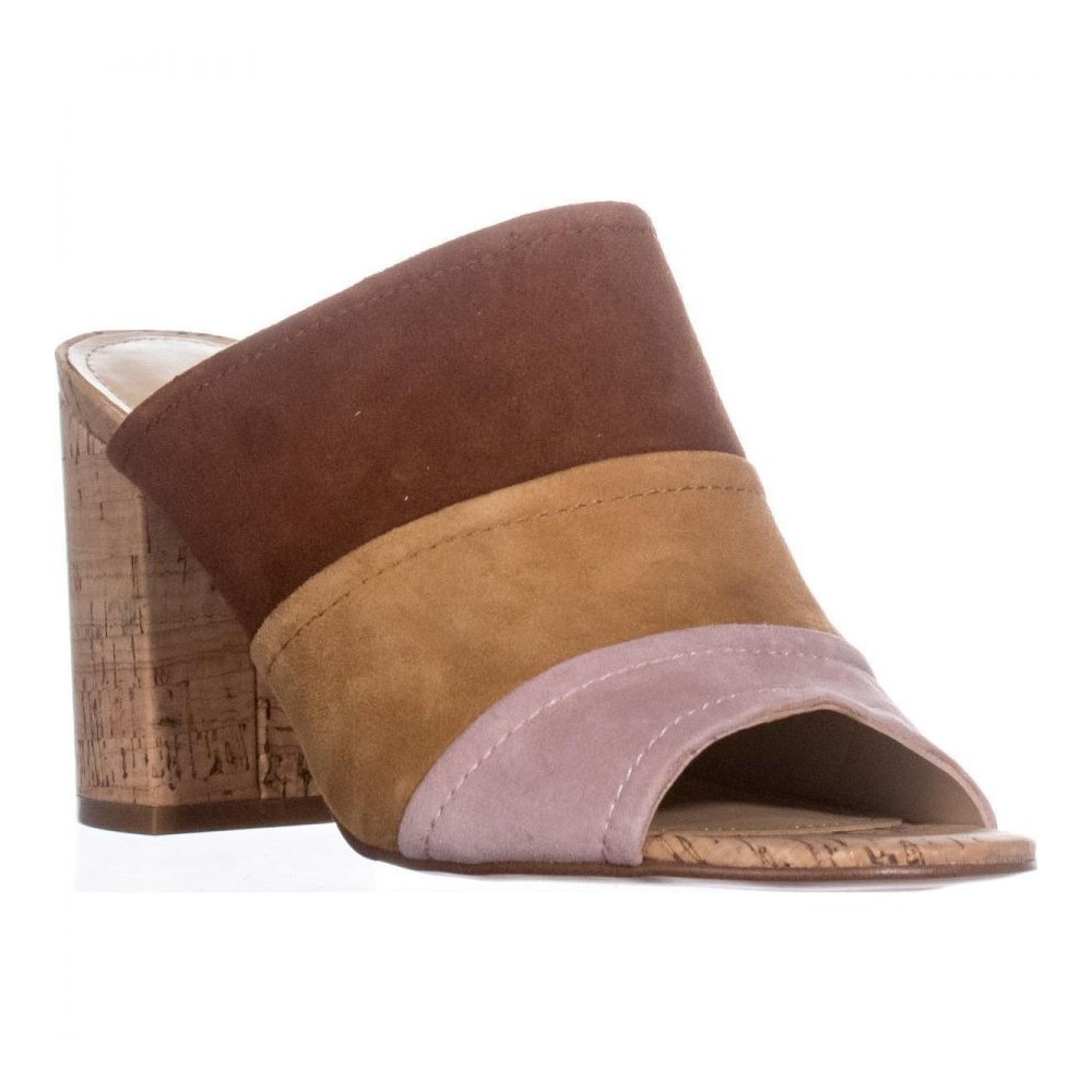 62a562eb2eb Details about Marc Fisher Womens Prenna Leather Open Toe Casual Mule Sandals