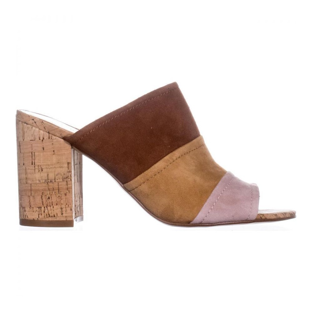 4d15b047ed0 Marc Fisher Womens Prenna Leather Open Toe Casual Mule Sandals