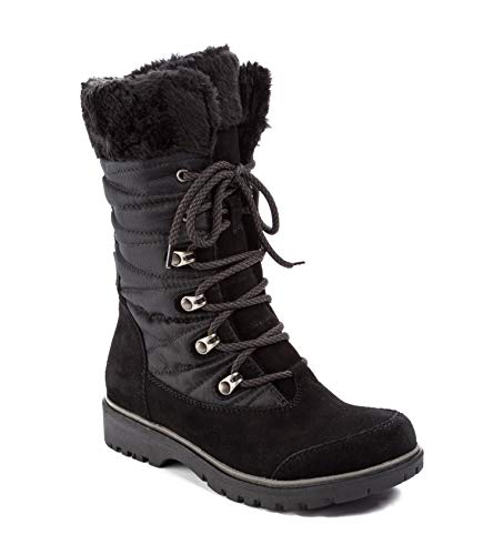 c0f5c6936306 Bare Traps Womens Satin Closed Toe Mid-Calf Cold Weather Boots ...