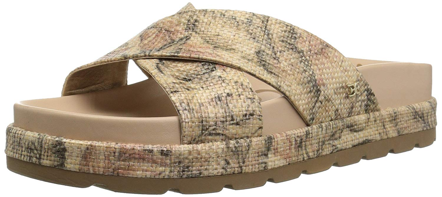 d0424db5c Sam Edelman Womens Sadia Fabric Open Toe Casual Slide Sandals