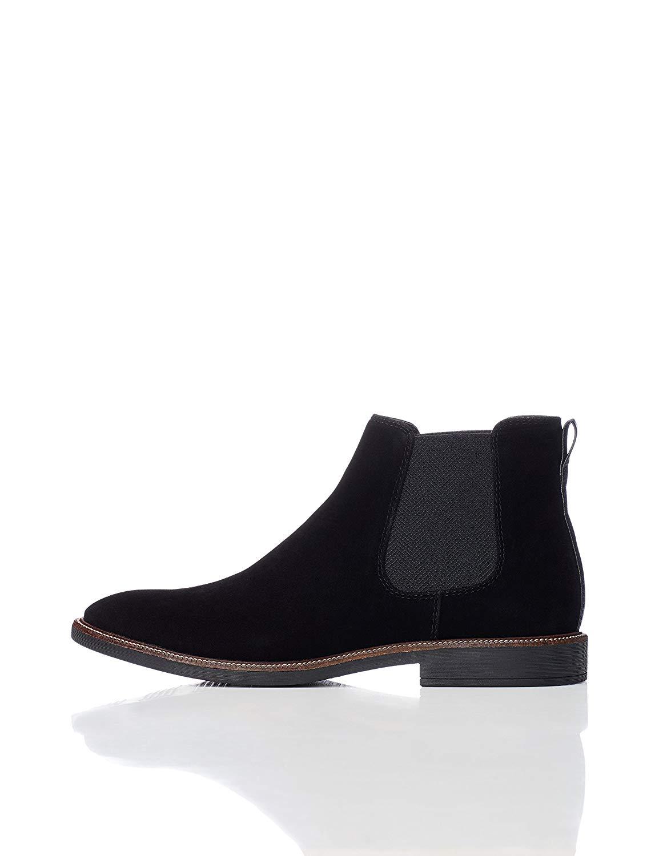 7d65b2ebc59d1 Details about Amazon Brand - find. Men's Suede Look Chelsea Boots, Black,  Size 11.0