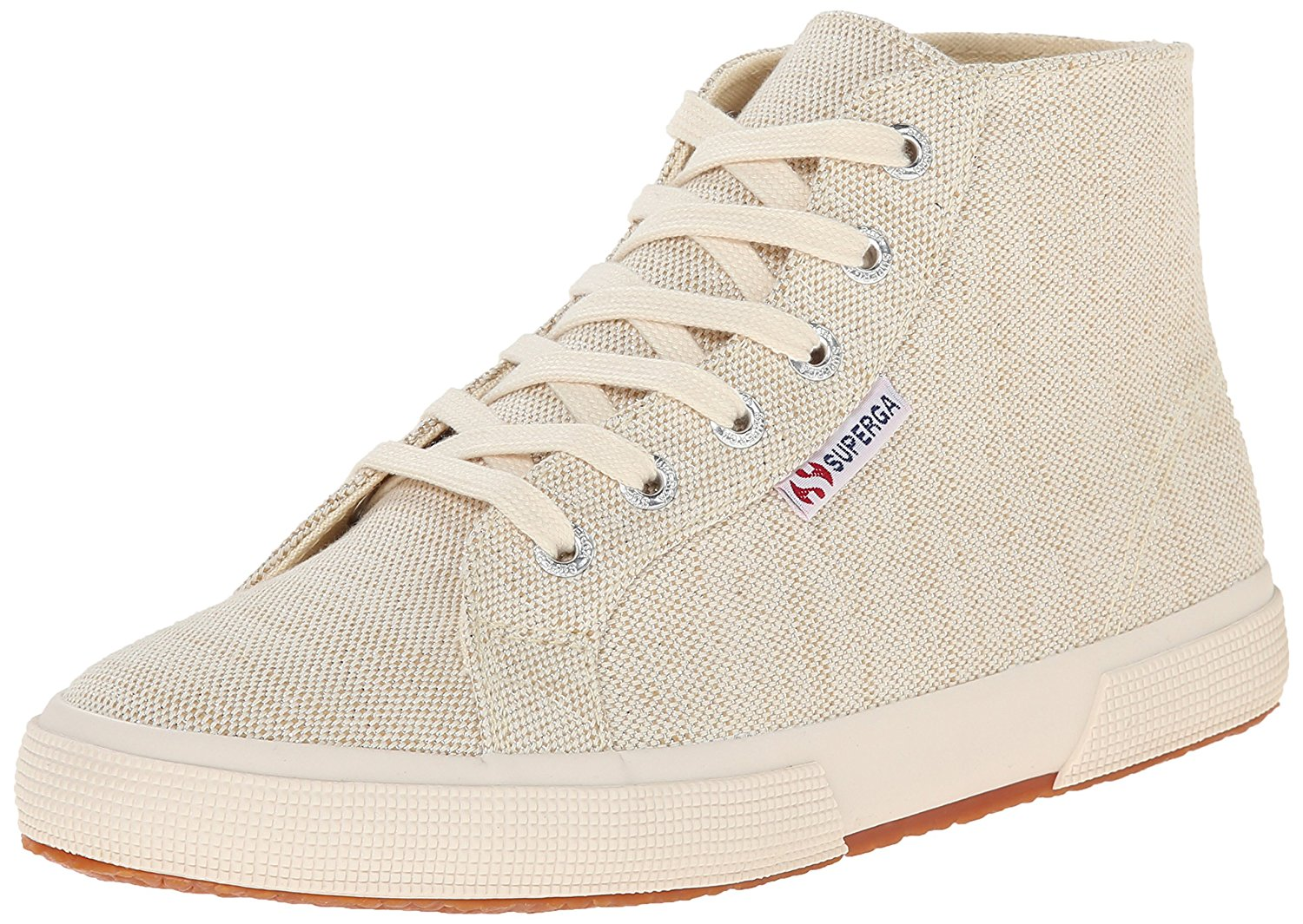 SUPERGA Womens 2095 Metallic Linen Canvas Hight Top Pull On Natural Size 10.0