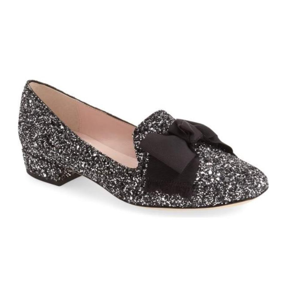 36416319dcb8 Kate Spade New York Womens Gino Fabric Square, Black/Silver/Glitter ...