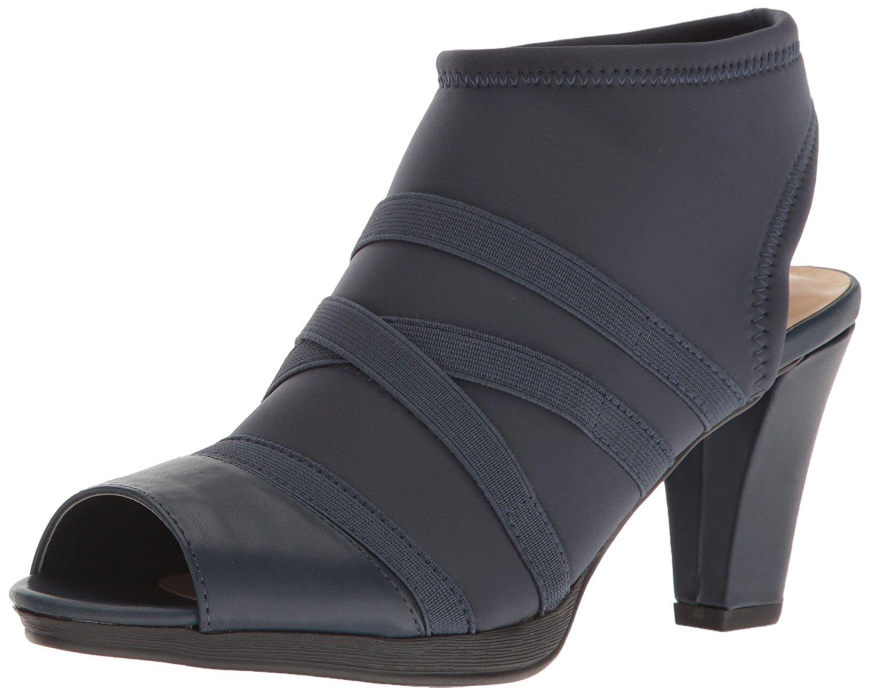 Bella Vita Womens lisbeth11 Fabric Peep Toe Classic Black Stretch Size 6.0