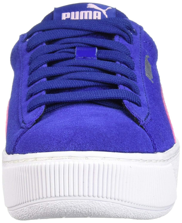 Kids Puma Girls Vikky Platform Jr Low Top Lace Up Walking Shoes  447af2c43