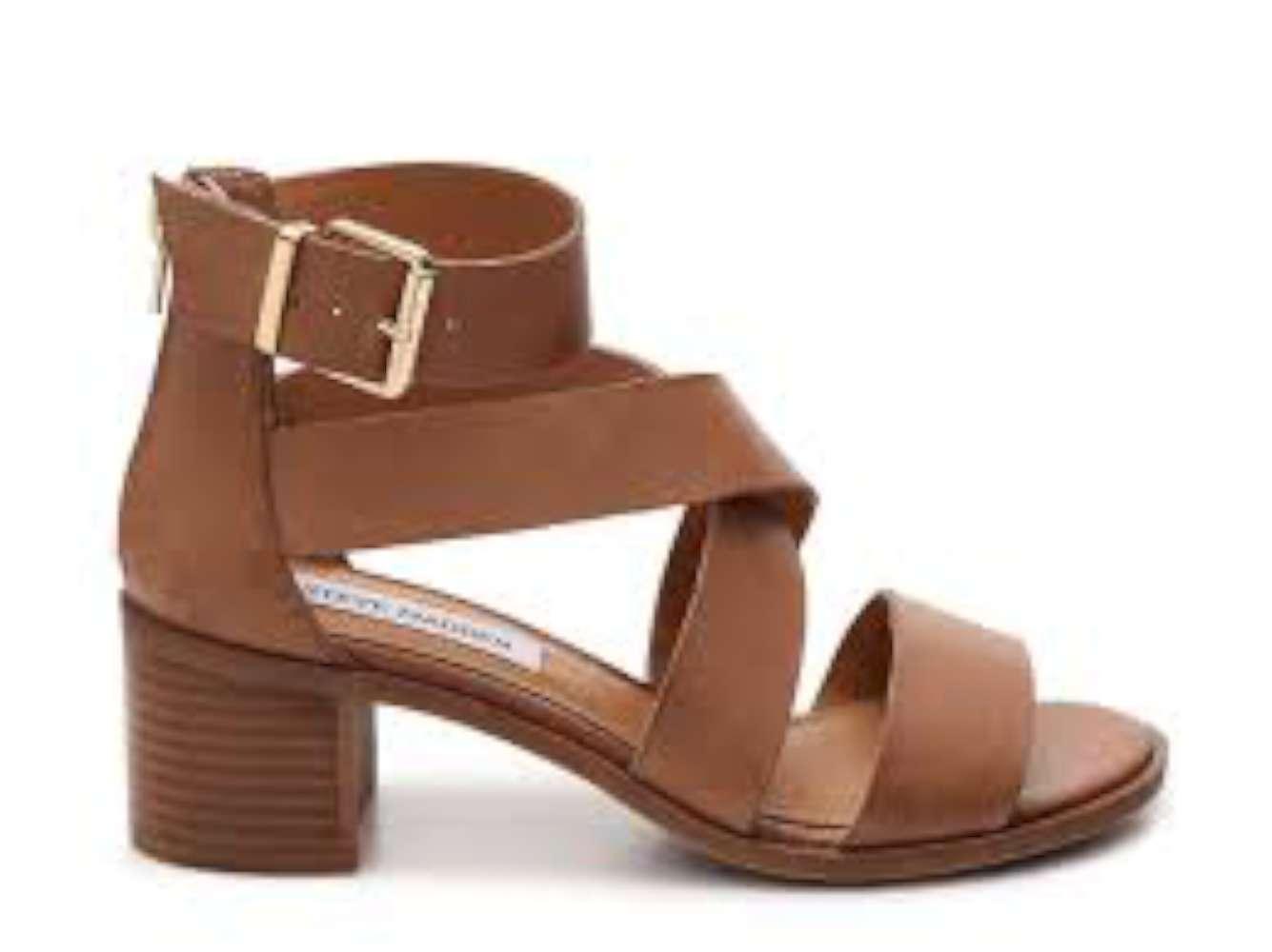 d1581ebbd83 Steve Madden Raeleen Womens Heeled Sandals Cognac 6 US   4 UK 1i ...