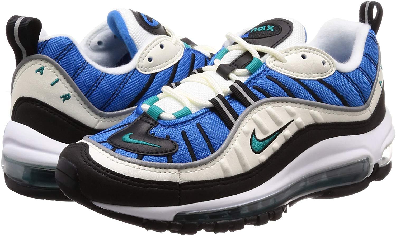 Nike Women's Air Max 98 Sail Radiant Blue Nebula AH6799 106 Size 5.5 New