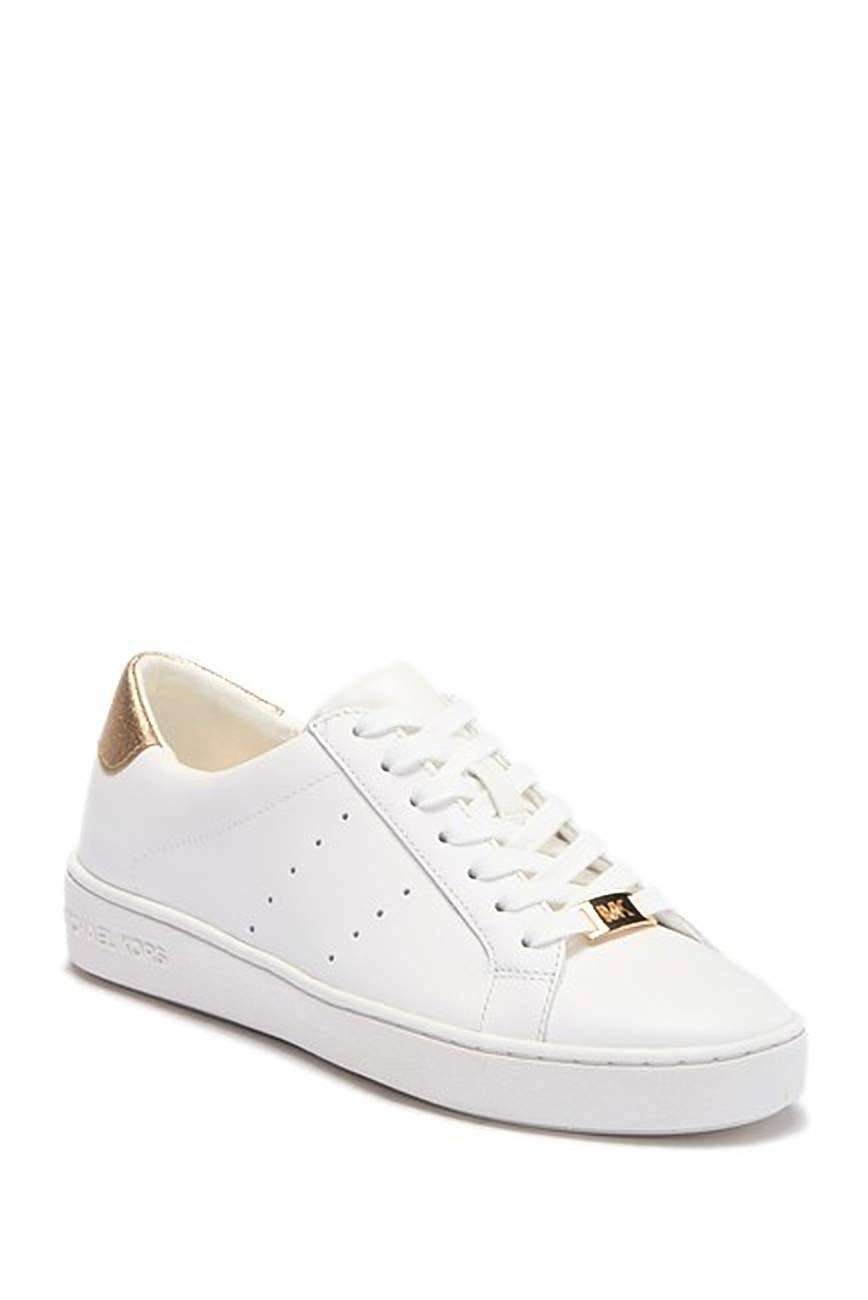 Details about Michael Michael Kors Womens Irving Lace Up Leather Low Top, OptGold, Size 10.0