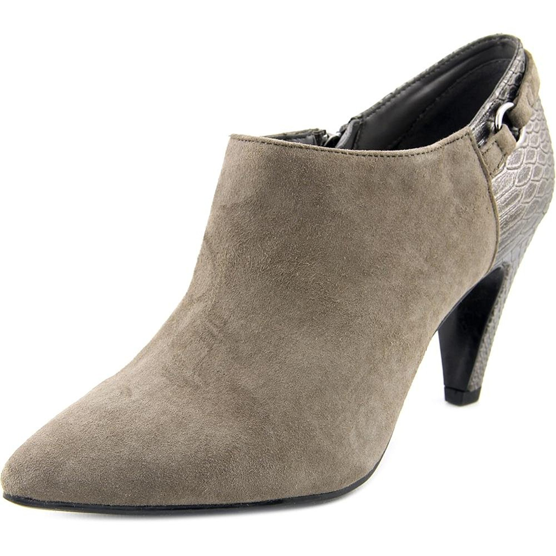 Bandolino Womens KAETO Pointed Toe Ankle Platform Boots, Grey-Suede, Size 10.0 8