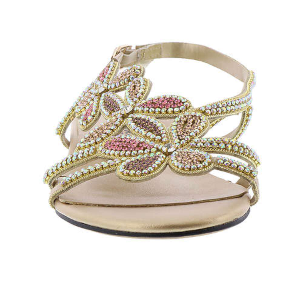 29c2d8b3b Beacon Womens shiy jeweled Open Toe Casual Ankle Strap Sandals