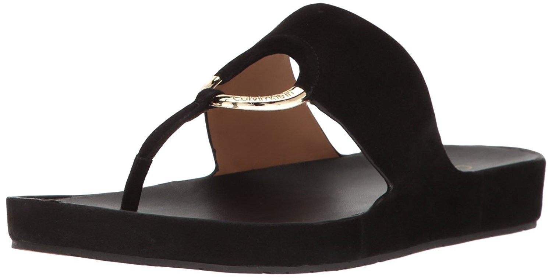 1aa3d4ab59b0 Calvin Klein Womens Mali Open Toe Casual Slide Sandals
