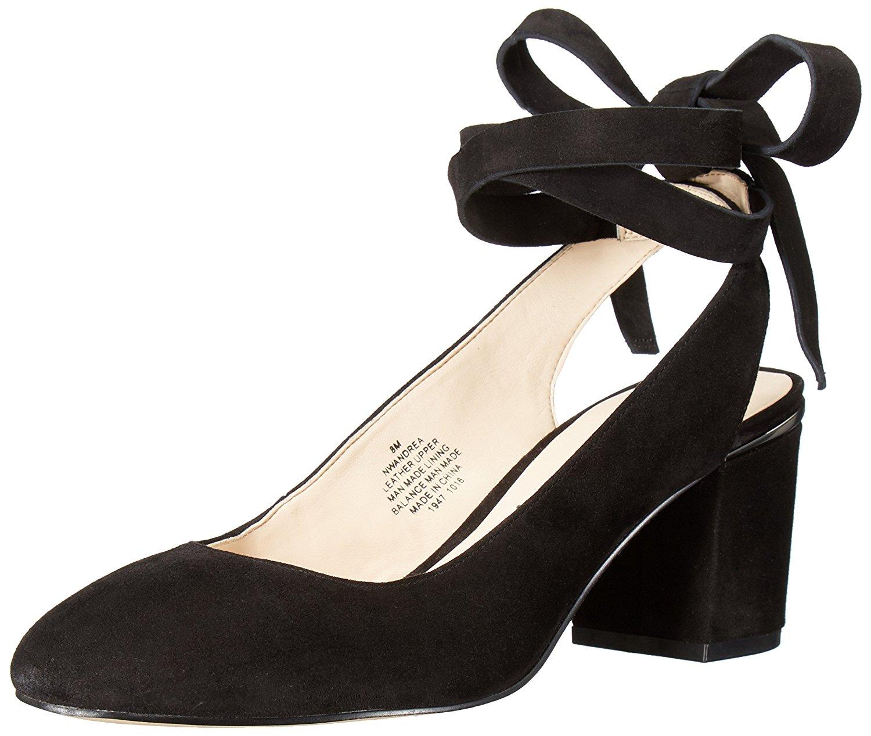 Nine West Women's Andrea Suede Dress Pump Black Size 7.0 mvrn