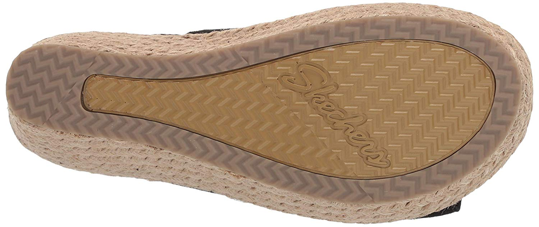 Skechers-Women-039-s-Brit-High-Wedge-Suede-Sling-Back-Sandal-Black-Size-11-0-5mJF thumbnail 5