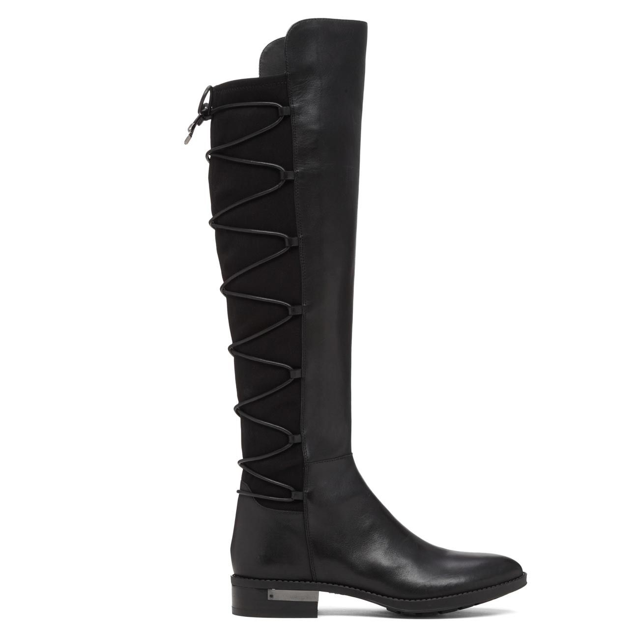 ed6777bfd20384 Vince Camuto Womens Parle Leather Closed Toe Knee High Fashion, Black, Size  6.5